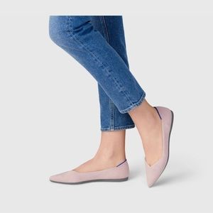 Rothy's pink pointy flat